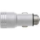 Ładowarka samochodowa USB, młotek bezpieczeństwa  (V3575-32)
